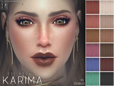 Sims 4 CC's - The Best: Eye Brows by Screaming Mustard