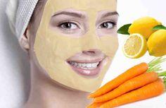 La mezcla de sus ingredientes en la partes que indicamos, dará como resultado una mascarilla que limpiara nuestra piel de impurezas y manchas, le dará un efecto blanqueador, logrando que sea más luminosa y con un aspecto más joven.  Ingredientes: + zumo de un limón, + zanahoria licuada, + 10 go