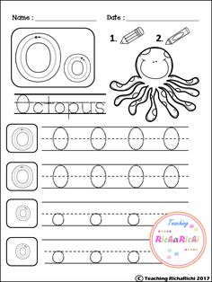 Alphabet Trace and color for kindergarten and pre-k