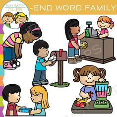 END word family - Original clip art by Whimsy Clips