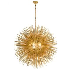Metal Sea Urchin Spunik | From a unique collection of antique and modern chandeliers and pendants at https://www.1stdibs.com/furniture/lighting/chandeliers-pendant-lights/