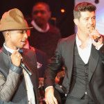 "Pharrell Williams and Robin Thicke headed to trial in February for ""Blurred Lines"" plagiarism. 