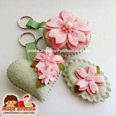 Ateliê Moça Arteira - Lembrancinhas e coisas fofas: Sakura - Flor de Cerejeira