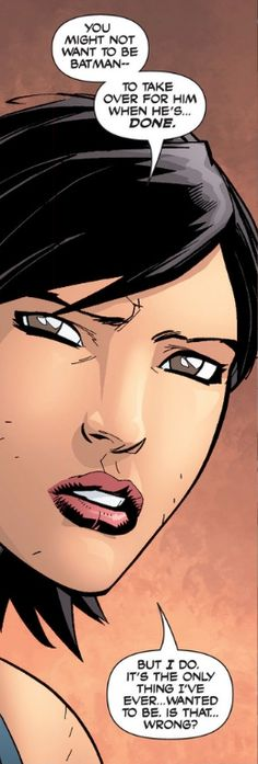 Why Cass Cain is dope: being Batgirl wasn't good enough, she wanted to take over as Batman. Bring her back DC