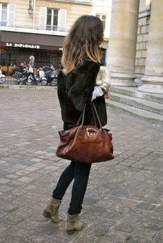 That bag!! Also, would die for some Isabel Marant boots...