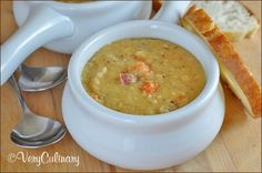 Crock Pot Lentil Soup with Kielbasa | Very Culinary