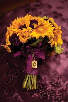 Sunflower bouquet, just a brighter purple! Wedding Bells, Fall Wedding, Our Wedding, Wedding Bouquets, Wedding Flowers, Sunflower Bouquets, Beautiful Flowers, Beautiful Boys, What A Wonderful World