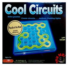 KIT: Your challenge--trigger the flashing of blue LEDs lights by joining the 3-D puzzle pieces into a complete circuit. Meet the conditions on each card--the puzzles get more and more difficult! This Junior version has a completely new set of puzzle challenges for Cool Circuits. Student Learning, Teaching Tools, Simple Circuit, Online Puzzle Games, Science Curriculum, Brain Teasers, Children's Literature, Puzzle Pieces, The Wiz