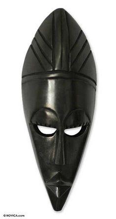 sleek black mask