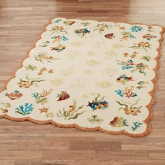 Coral Dive Rectangle Rugs
