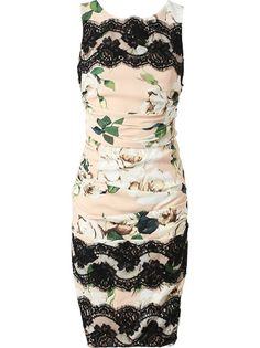 DOLCE & GABBANA - Ruched Crepe and Lace Floral Printed Dress...Definitely a future Cake Design #FlowerShop