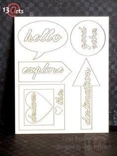 Tekturką Color Basic-Words by Olga Heldwein