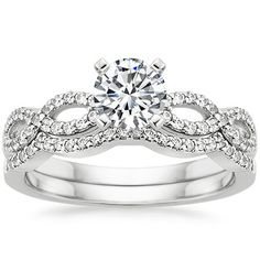 18K White Gold Infinity Diamond Ring Matched Set (1/3 ct. tw.) from Brilliant Earth