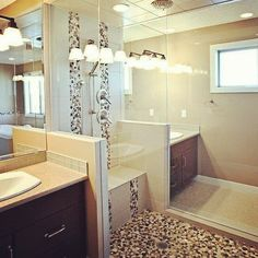 Who loves this Bathroom? 👍 This bathroom was designed and completed by our in-house Interior Designer and Dannburg Floor Coverings. Next At Home, Home Improvement Projects, Tile, Bathtub, Flooring, Interior Design, Bathroom, House, Standing Bath