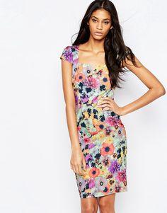 Paper+Dolls+Midi+Dress+In+Floral+Mix+Print