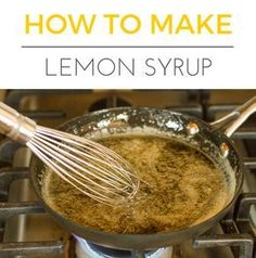 How To Make Lemon Syrup -- a simple lemon syrup recipe that's perfect for infusing your favorite drink, quick bread or bundt cake recipe! | unsophisticook.com