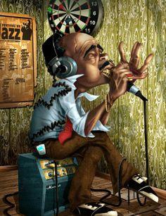 Cuadro de bluesman II