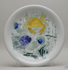 Crayfish plate, 1952-60. Oy Arabia Ab. Heinola Town museum collection. Foto: Risto Pihla
