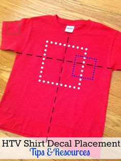 HTV Shirt Decal Placement and Size Tips and Resources via Silhouette School