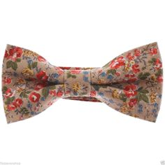 FLATSEVEN Mens Rose Flower Floral Pattern Pre-Tied Bow Tie (YB016) #FLATSEVEN #BowTie
