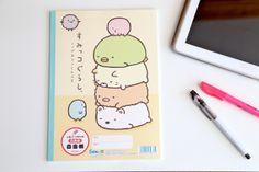 "Sumikko Gurashi ""Things in the Corner"" Blank Notebook by San-X  #JapaneseStationery #Stationery #ayellowgiraffe #paper #notebook #sumikkogurashi #write more #ayellowgiraffe"