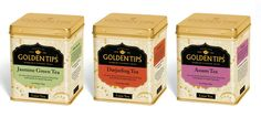Packaging of the World: Creative Package Design Archive and Gallery: Golden Tips Tea Cans