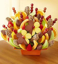 Fresh fruit delivery is fun with delicious fruit arrangements from Fruit Bouquets, fruit baskets to chocolate strawberries & more! Chocolate Covered Strawberries, Chocolate Dipped, Chocolate Art, Fresh Fruit Delivery, Edible Fruit Arrangements, Fruit Creations, Fruit Gifts, Fruit Decorations, Incredible Edibles