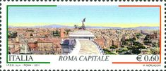 2011 - 150º anniversario dell'unità d'Italia - Roma Capitale - Roma dalle quadrighe del Vittoriano: dal Quirinale al Colosseo, opera di M.Morlacchi