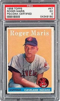 b95241e74dc Indians Roger Maris Signed Card 1958 Topps RC Rookie  47 Slabbed - PSA DNA  Certified - Baseball Slabbed Autographed Cards at Amazon s Sports  Collectibles ...