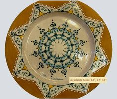 Plate #49 comes in sizes 35cm, 43cm & 48cm all of our terracotta is on our website www.romeocuomoceramics.com