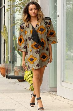 Reppin Africa: Kat Graham In Traditional African Inspired Dress - Elegancy 101…