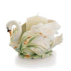 Franz Porcelain Swan Lake candleholder by Franz Porcelain Collection. $229.00