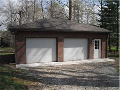 1000 images about two car garage plans on pinterest two for Brick garage plans