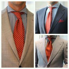 Polka dots tie #fashion & #style