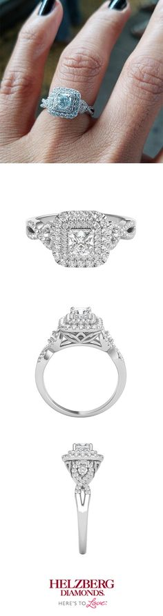 Boasting a 1 CT diamond in a 14K white gold setting, we're all for your Helzberg Limited Edition® ring,