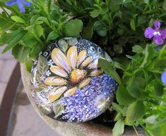 painted+rocks+for+garden | Caifornia Beach Rock, Painted Rock,, Stone, Garden Rock, Garden Decor ...