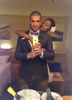 Yeah its official I have a thing for white boys . I mean look at him wow A dream wedding to a dream guy. - Gorgeous interracial couple on their wedding day Interracial Family, Interracial Marriage, Interracial Wedding, Black Woman White Man, Black And White Love, Black Women, White Boys, Black Girls, Interacial Love