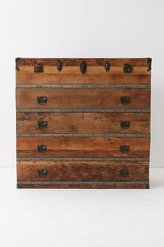 Ideal for the traveler in me. Actually, I'm thinking this will look great in my bedroom with my bed made of reclaimed wood and steel. - Traveler Chest  #anthropologie