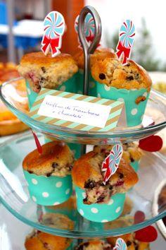 Muffins de Framboesa e Chocolate