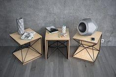 the X-1 side table setup by frame_cardboarddesign