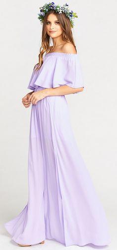Lilac Maxi Dress - S