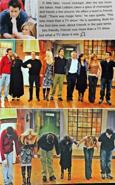 Friends final episode *sniffle*--still a hard one to watch....especially because Jennifer Aniston can't stop crying