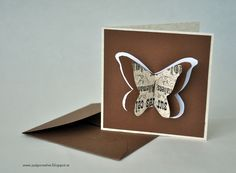 kort med fjäril, gör eget kort, butterflycard