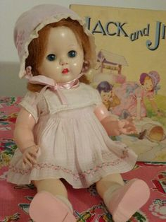 An all original Rosebud doll from the 1950's