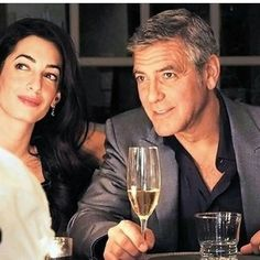 George Clooney and his new fiancée, Amal Alamuddin, looked very much in love last month when they celebrated their engagement alongside pals Rande George Clooney Amal Alamuddin, George Clooney Wedding, Celebrity Engagement Rings, Celebrity Couples, Celebrity Gossip, Celebrity News, Celebrity Rings, Celebrity Style, Celebrity Weddings