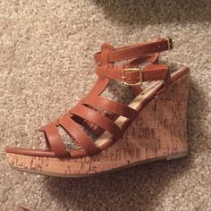 Brown Wedges These brown wedges are perfect for that end of summer party you're heading to! Deb Shoes