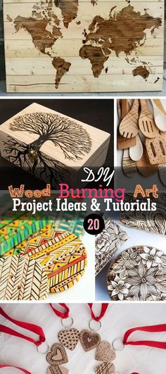 20 DIY Wood Burning Art Project Ideas & Tutorials