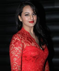 Sonakshi Sinha In Red Dress