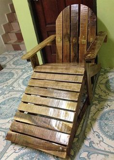 recycled pallets made chair plan