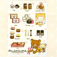 San-X Rilakkuma Chocolate and Coffee A4 2-Pocket Plastic File Folder: 3